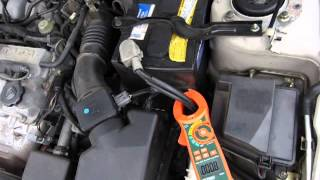 Measure Amps (non-contact, DC) on a car