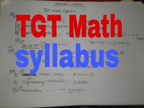 DSSSB TGT Math syllabus and stargey