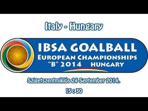 IBSA GOALBALL Italy - Hungary Men Pool B