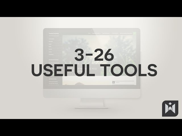 WordPress for Beginners 2015 Tutorial Series | Chapter 3-26: Useful Tools