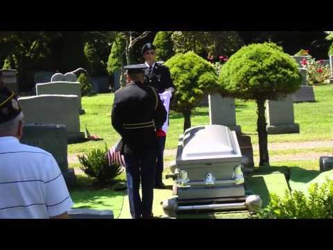 "The burial of Steve Lusash member of VFW post 1615 Blauvelt NY  ""Rest in Peace Steve "" video by Art"
