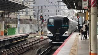 E257系 特急踊り子8号 東京行き14両編成 横浜駅到着