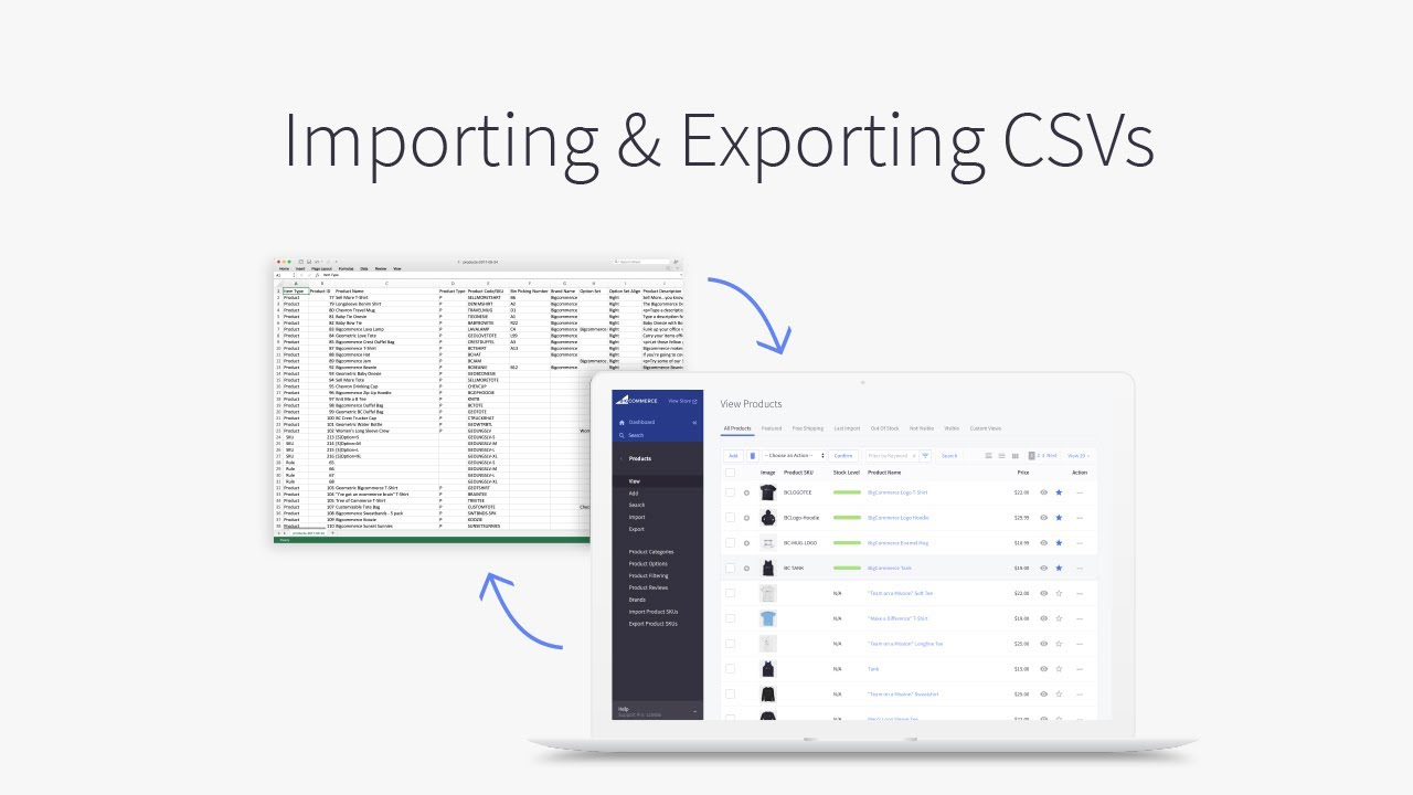 How to import/export a CSV file into BigCommerce
