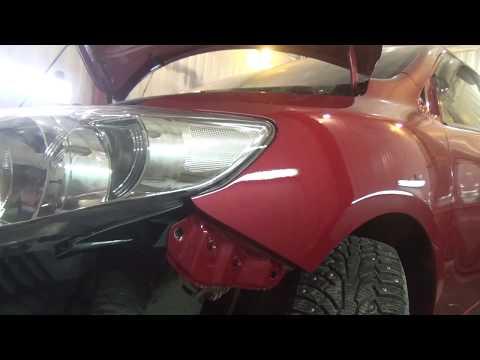Как снять-установить переднее крыло, Toyota Corolla X (E140, E150) Рестайлинг.