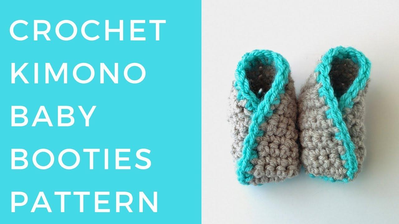 Crochet Kimono Baby Booties Pattern