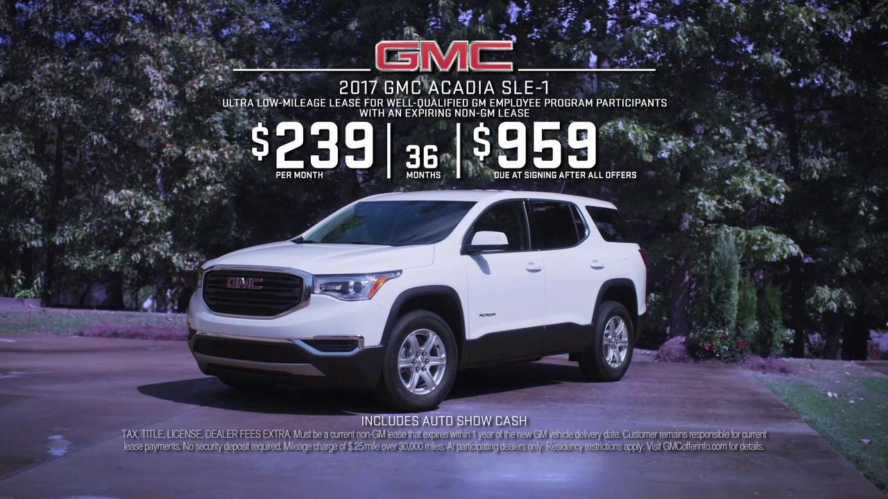 0 2017 Gmc Acadia Sle 1 Lease Youtube Year Car
