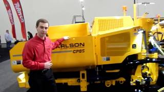 Video still for Carlson Paving Products Showcases CP85 Commercial Paver at World of Asphalt 2018