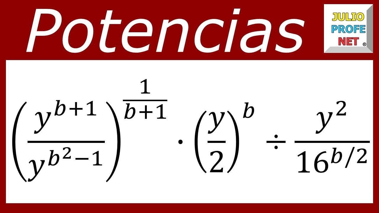 SIMPLIFICACIÓN DE EXPRESIONES CON POTENCIAS - Ejercicio 1