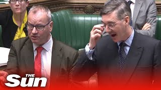 DON'T MOCK THE MOGG! SNP's Pete Wishart takes on the Commons leader