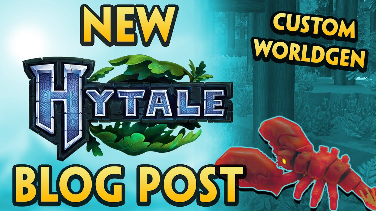 NEW Hytale Blog Post + CUSTOM World Generation Footage | News Updates