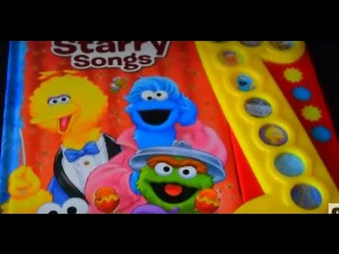 Sesame Street Starry Songs Play A Song Music Book Sound Kids Nursery Rhymes Lullaby You