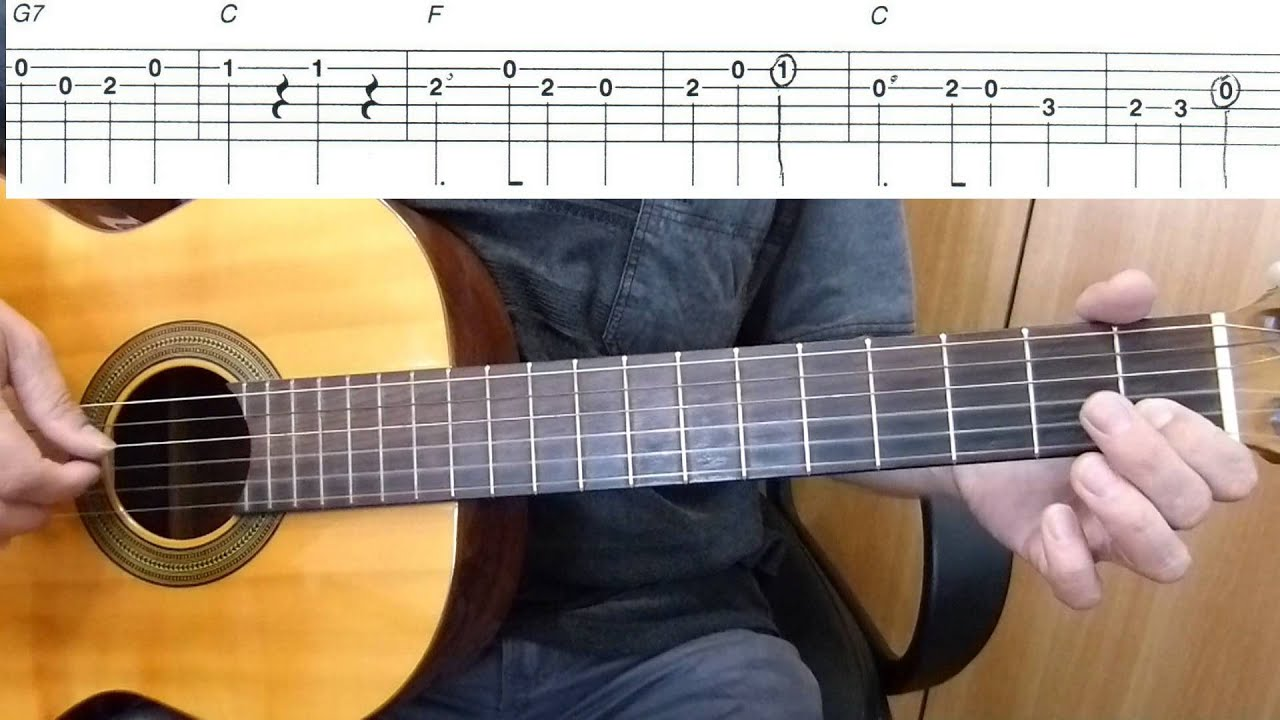 Yankee Doodle Easy Guitar Melody Tutorial Tab Guitar Lesson