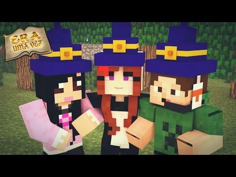 APRENDIZ DE FEITICEIRA! (c/Jr e Mi) - Era Uma Vez #19 - Minecraft