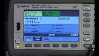 Keysight 53230A Single Shot Resolution Demo