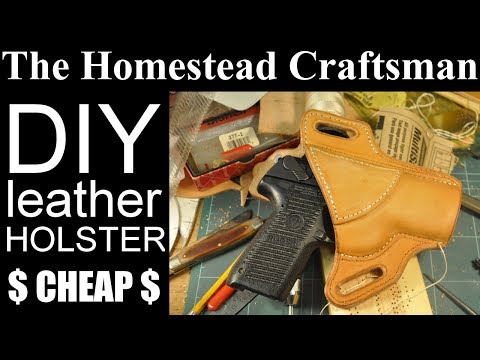 Homemade Leather Gun Holster and Mag Pouch
