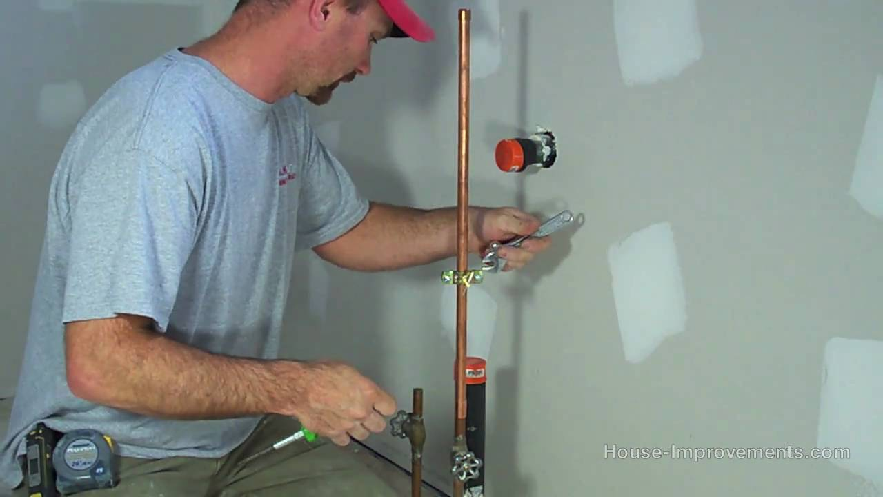 Hook up water line refrigerator