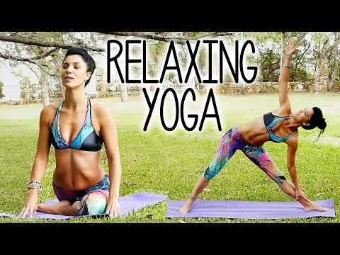 Relaxing Yoga for Stress & Sleep, Beginners Stretches for Back Pain, 20 Minute At Home Routine