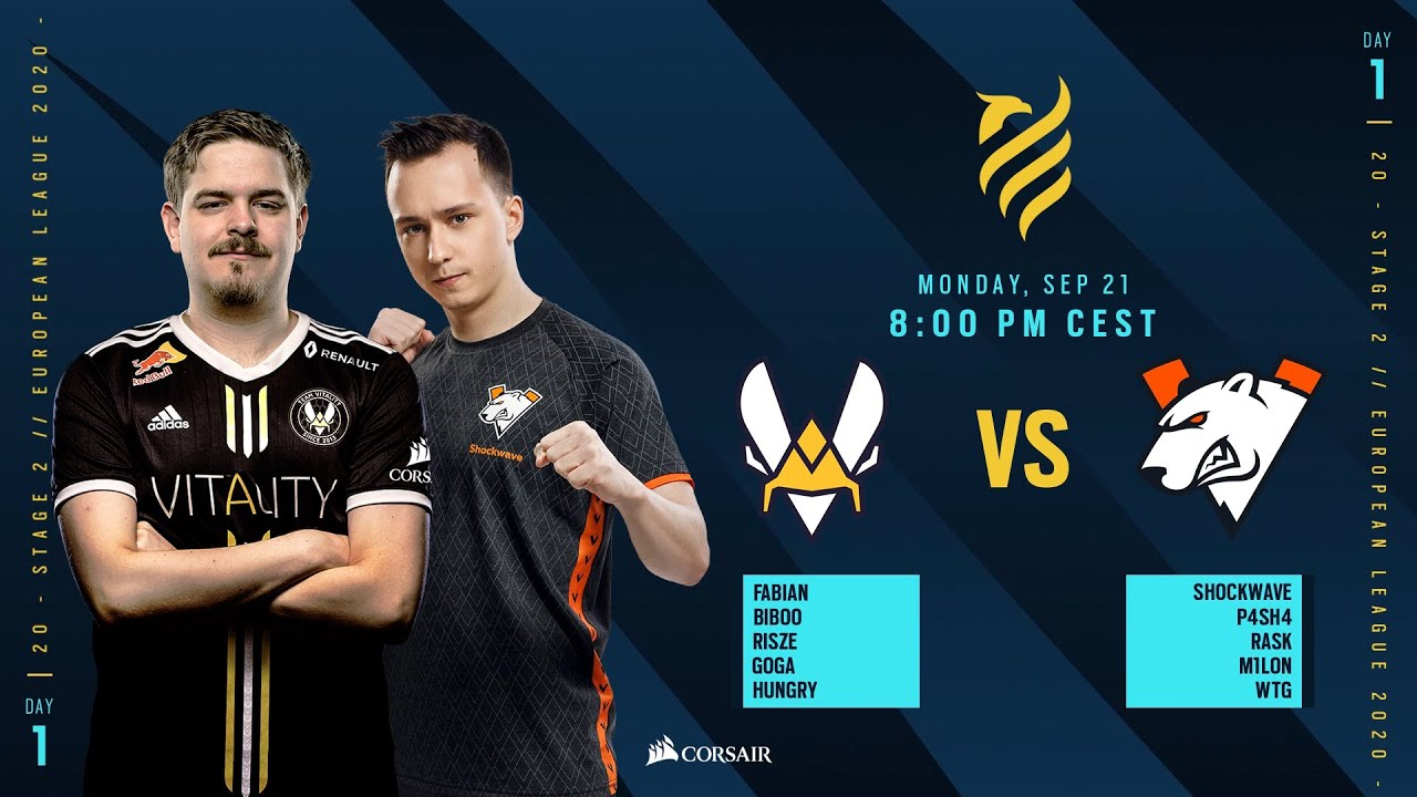 Team Vitality vs Virtus.Pro // Rainbow Six European league 2020 - Stage 2 - Playday #1