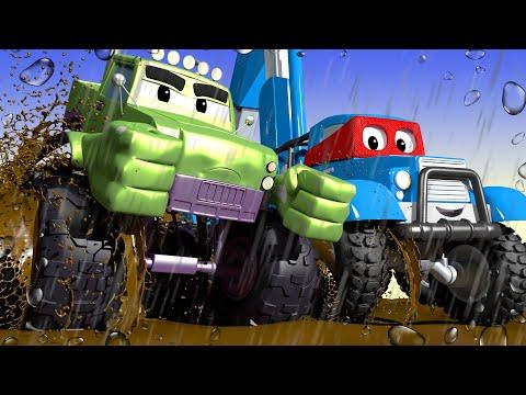 Супер Джип спасатель - Трансформер Карл в Автомобильный Город 🚚 ⍟ детский мультфильм