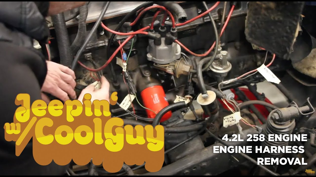Jeep CJ7 Engine Wire Harness Removal - YouTubeYouTube
