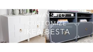 Ikea Hack: Besta Cabinet Two Ways
