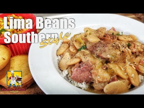 Lima Beans With Smoked Ham Hocks | #SoulFoodSunday | Crockpot Recipes