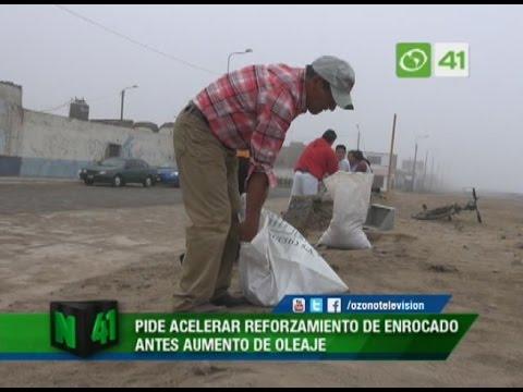 Alcalde de Victor Larco pide acelerar reforzamiento de enrocado en Buenos Aires - Trujillo