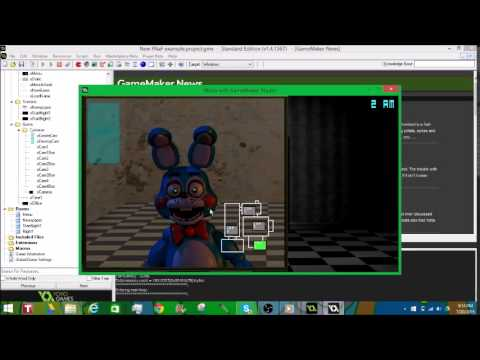 How to make a FNaF game in Game Maker [New and Improved!]