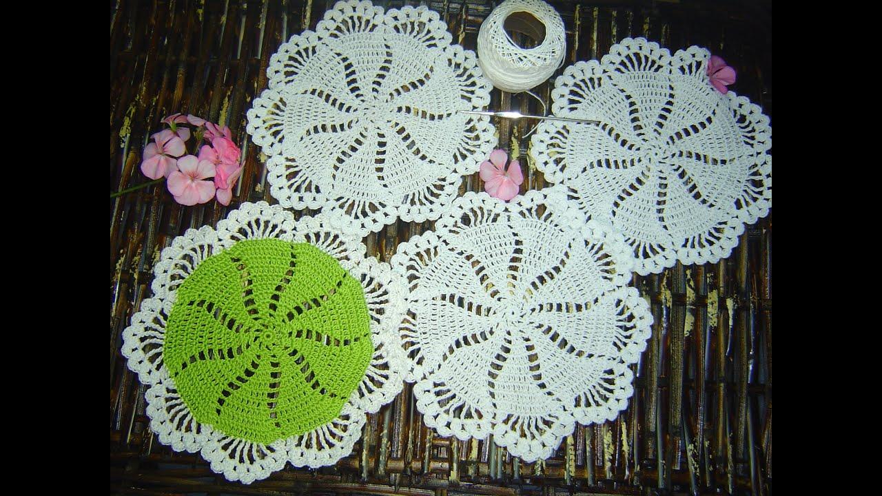 Como Hacer Tapete Carpeta Portavasos A Crochet Paso A