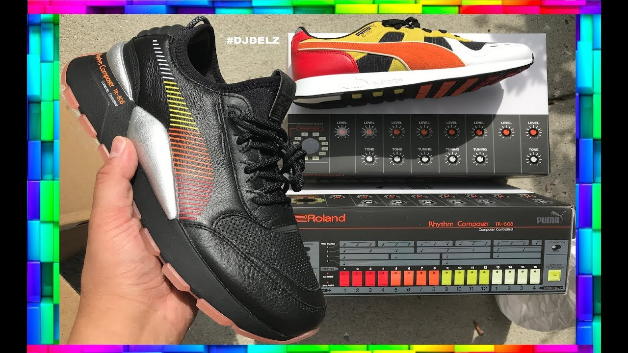 161937523b7f8b PUMA RS-100 SHOES INSPIRED BY THE ROLAND TR 808 DRUM MACHINE - YouTube