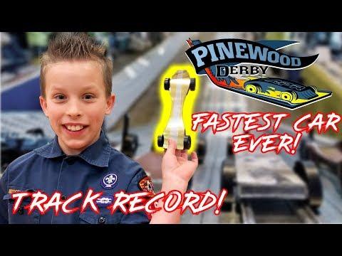 Fastest Pinewood Derby Car EVER! Paxton Myler