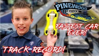 Fastest Pinewood Derby Car EVER! Paxton Myler