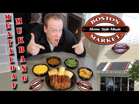 Boston Market ☆NEW HOME! MEATLOAF MEAL MUKBANG☆ Food Review!!!