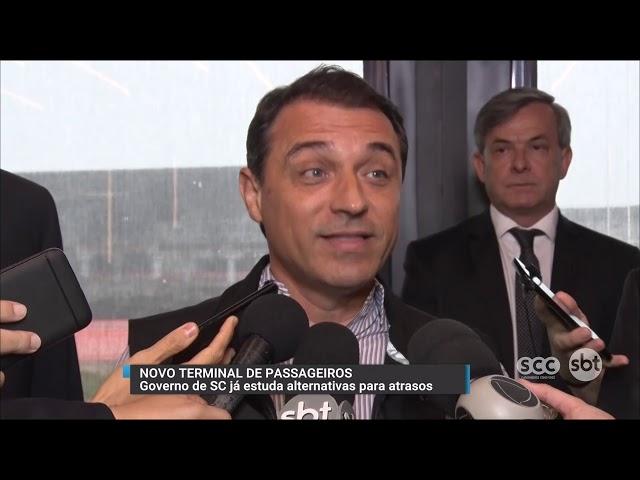 Governador de SC visita as obras do aeroporto Hercílio Luz de Florianópolis