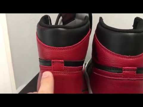 low priced 13fa0 d06db Fake Air Jordan 1 Retro High OG Banned 2016 - YouTube