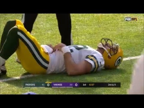 Aaron Rodgers Injury vs Vikings 2017