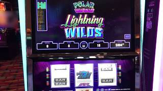 "Polar High Roller Lightning Wilds""  Red Spin Wins  Choctaw Gambling Casino, Durant, OK"