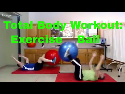 Total Body Exercise Ball Workout Routine Beginner to Advanced for PhysioBall, Swiss Ball, ETC.