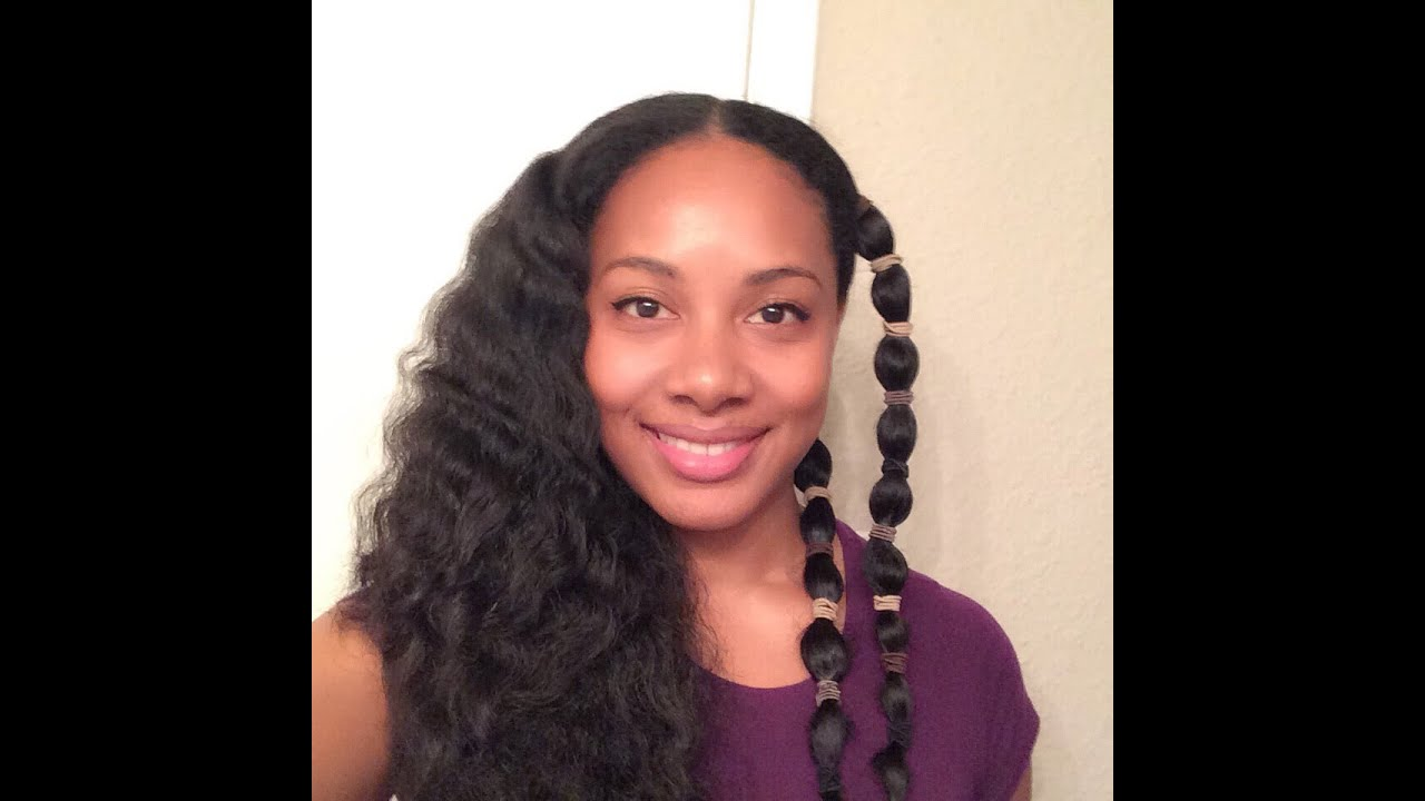 Heatless Waves On Natural Hair L The Banding Method Youtube