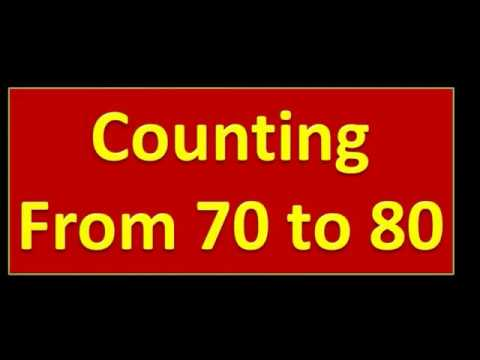COUNTING FROM 70 To 80 || Nursery Kids