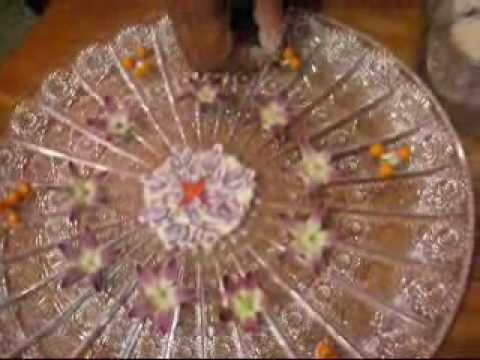 Aarti thali decoration by shantha youtube for Aarti thali decoration with pulses