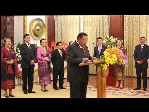 Foreign diplomats congratulate Laos on development progress   President Bounnhang Vorachit