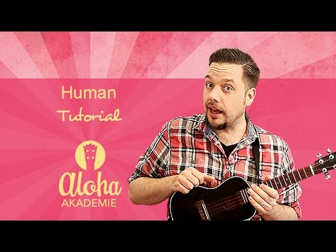 Human Ragnbone Man Ukulele Tutorial Easy Version Aloha