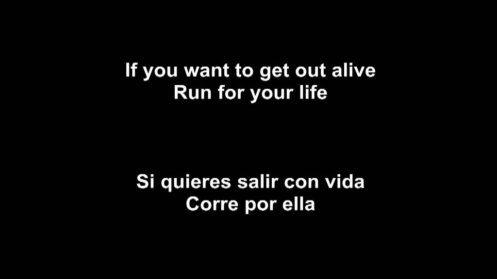 Lyric corre lyrics in english : 3DG | Get Out Alive (Letra) - YouTube