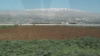 Driving Anjar عنجر in Lebanon لبنان