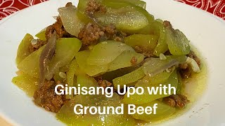 GINISANG UPO WITH GROUND BEEF   Supermom Vlog