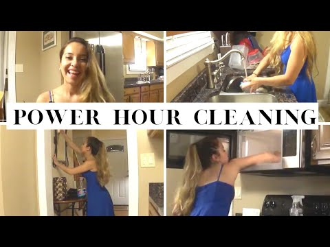 After Vacation Power Hour | Late Night Cleaning || Kimberly TV