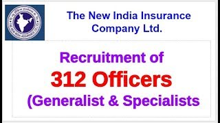 New India Assurance company recruitment 2018 || NIACL 312 Administrative Officers Notification 2018