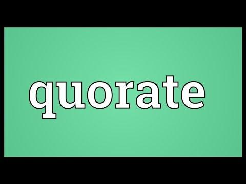 Header of quorate
