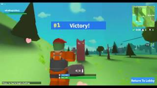 My first victory on Roblox Island Royale!